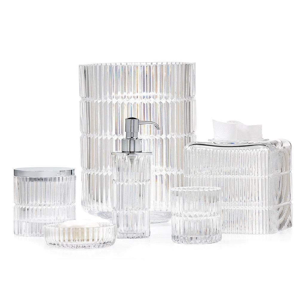LABRAZEL Boîte en cristal fin Prisma et chrome poli clair