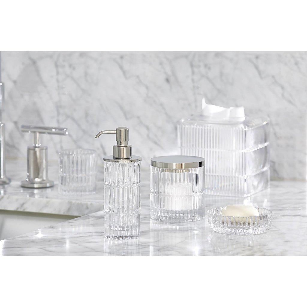 LABRAZEL Prisma Fine Crystal & Polished Chrome Soap Dispenser in Clear