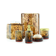 LABRAZEL Tortoise Shell & Matte Brass Canister in Golden Brown