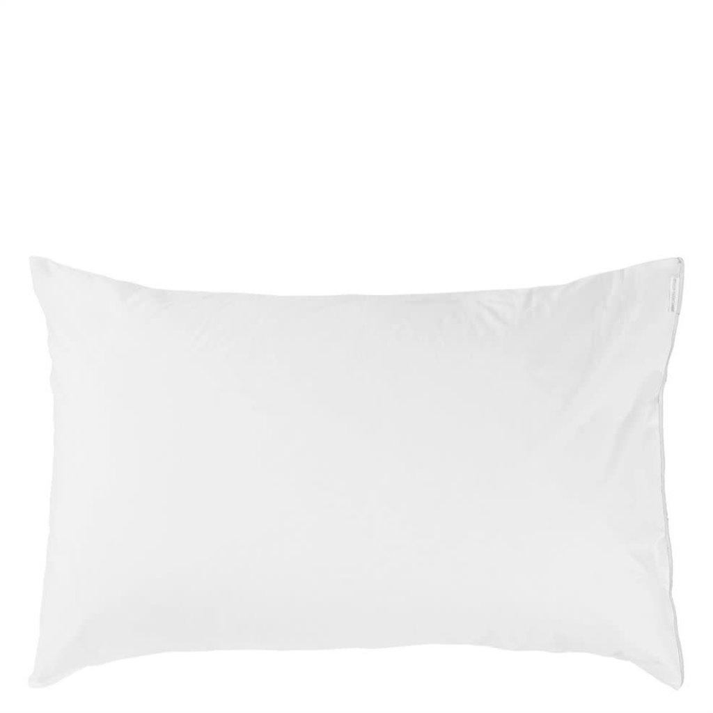 DESIGNERS GUILD Astor Bianco Queen Pillowcase 75X50Cm