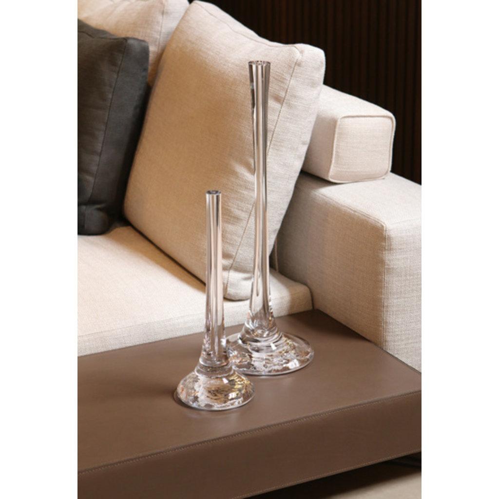 SKLO Vase Puddle et chandelier en verre transparent (38x18cm)