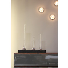 SKLO Vase Puddle et chandelier en verre transparent (58x20cm)