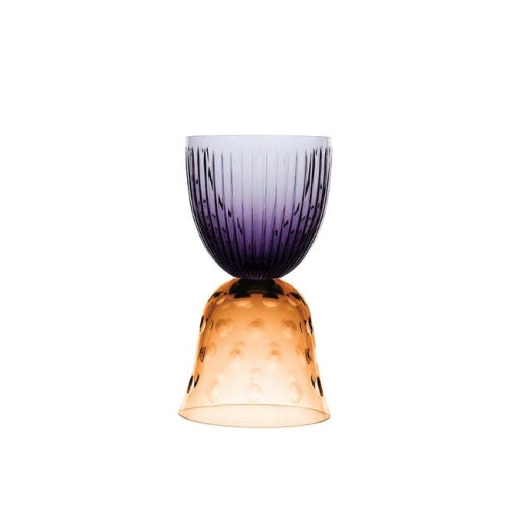 SAINT-LOUIS Les Endiablés Bubbles Amber Vase