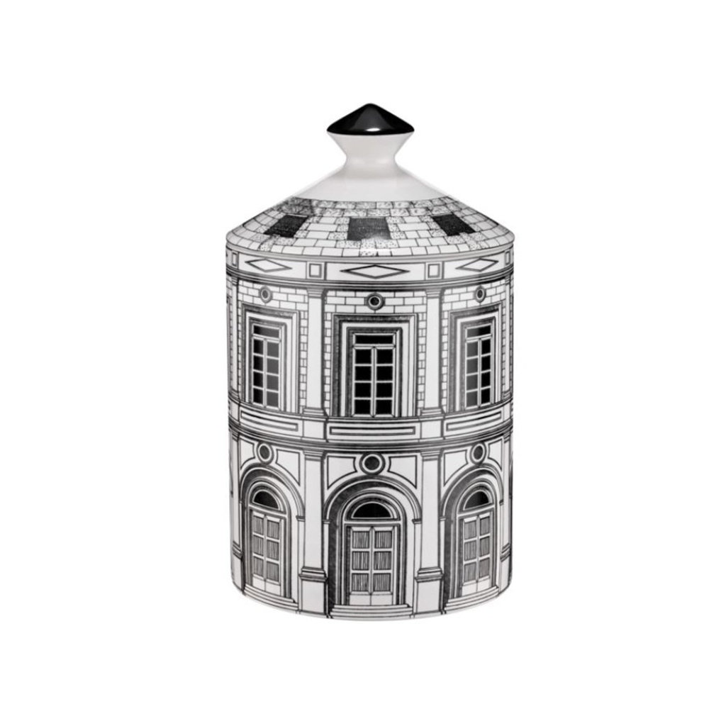 FORNASETTI FRAGRANCE Palazzo Scented Candle in Black - 300G
