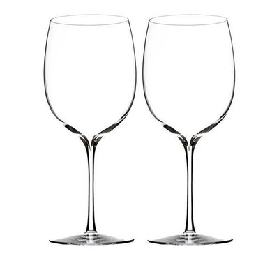 WATERFORD Elegance Bordeaux Wine 21.9 Oz Set/2