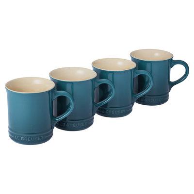 LE CREUSET Classic 0.4 L Mugs (Set of 4) Teal