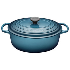LE CREUSET 6.3 L Oval French Oven Teal