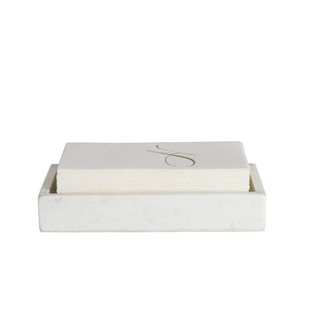 BELLE DE PROVENCE Marble Napkin Tray 8.35 x 4.4 x 1.5''