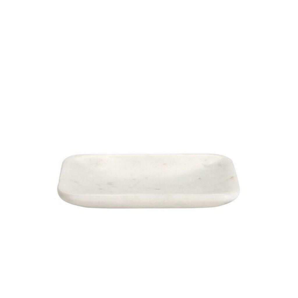 BELLE DE PROVENCE Rounded Marble Soap Dish 5.23''x3.66''x0.5''