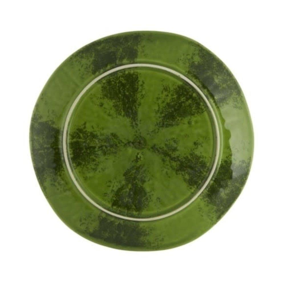 BORDALLO PINHEIRO Green & Red Watermelon Fruit Plate in Ceramic