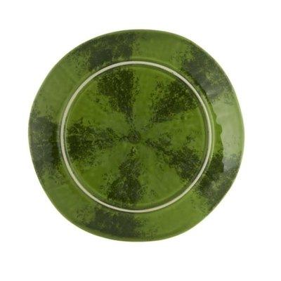 BORDALLO PINHEIRO Assiette à fruits melon d'eau en céramique - vert et rouge