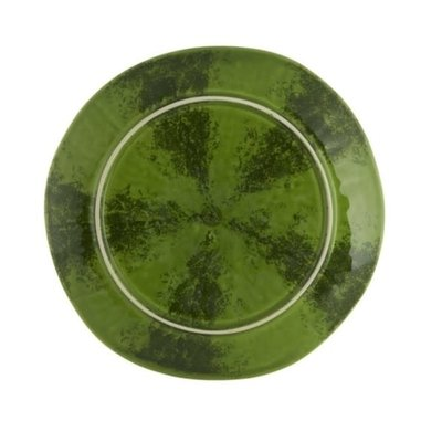 BORDALLO PINHEIRO Watermelon Ceramic Fruit Plate - Green & Red