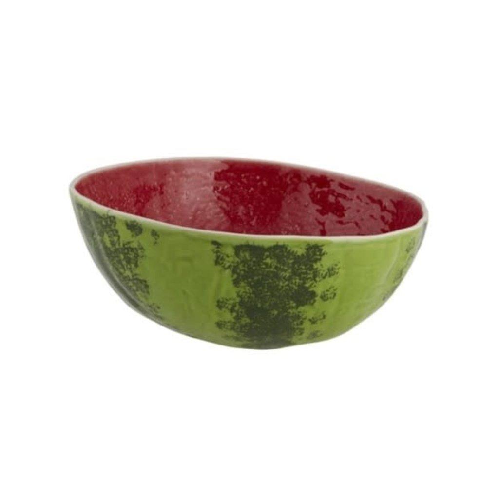 BORDALLO PINHEIRO Bol de service à salade moyen en céramique - Pastèque verte et rouge