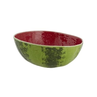 BORDALLO PINHEIRO Bol de service à salade moyen en céramique pastèque - vert et rouge