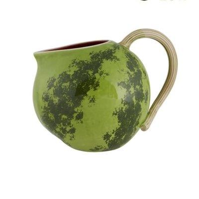 BORDALLO PINHEIRO Watermelon Ceramic 2.5L Pitcher - Green & Red