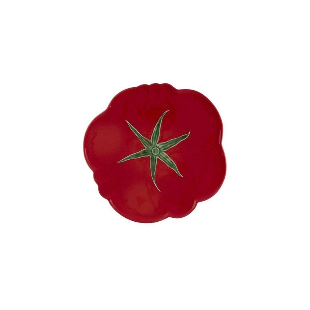 """BORDALLO PINHEIRO Assiette de service Tomate Rouge 12"""" en céramique"""