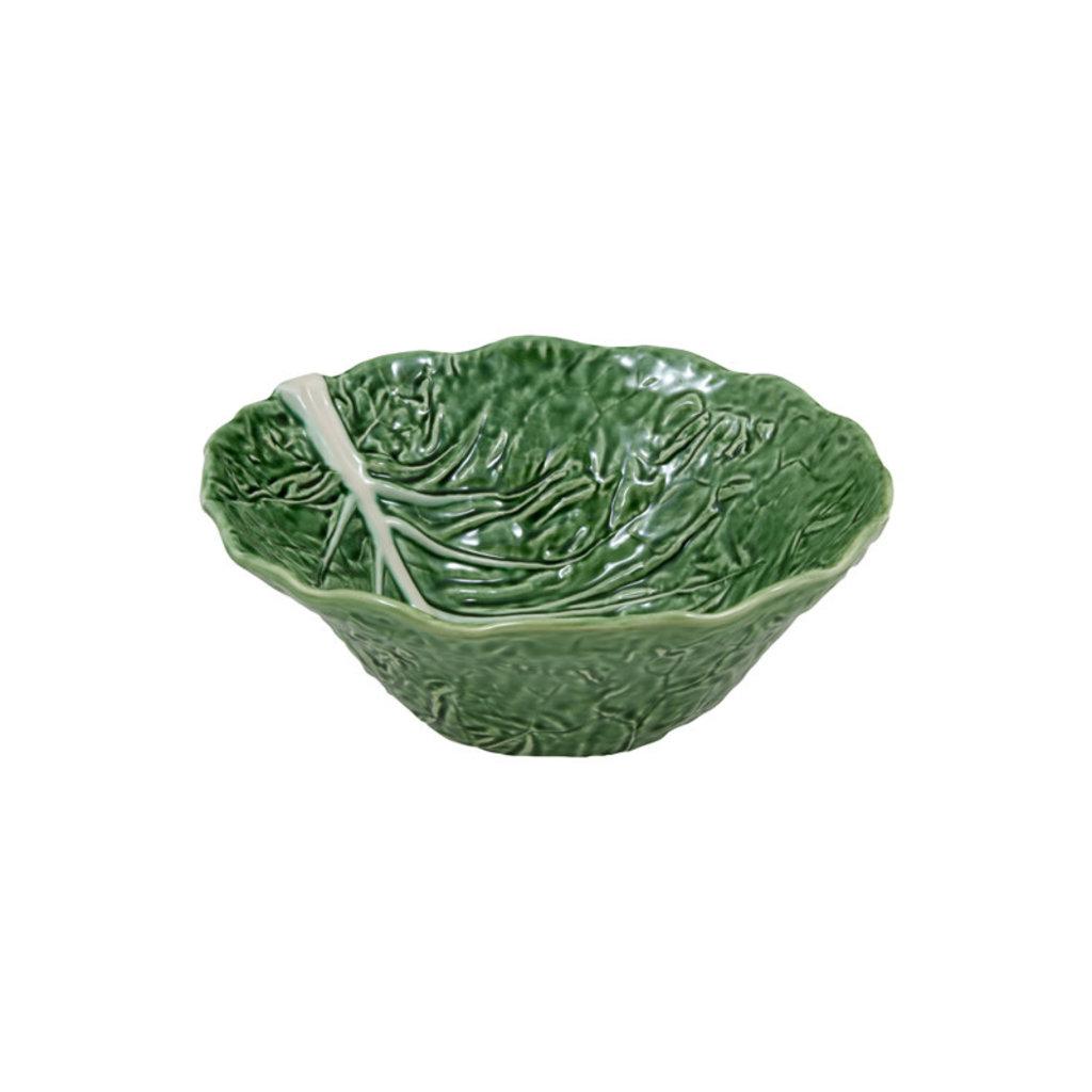 BORDALLO PINHEIRO Green Cabbage Large Salad Bowl in Ceramic