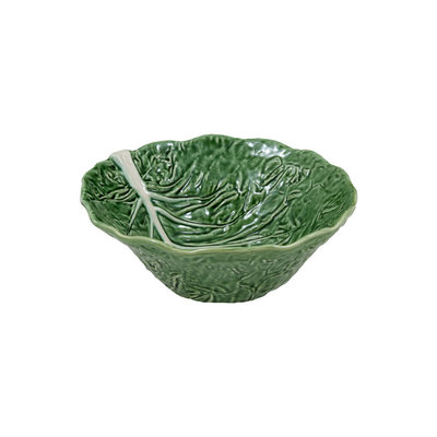 BORDALLO PINHEIRO Cabbage Ceramic Large Salad Bowl - Green