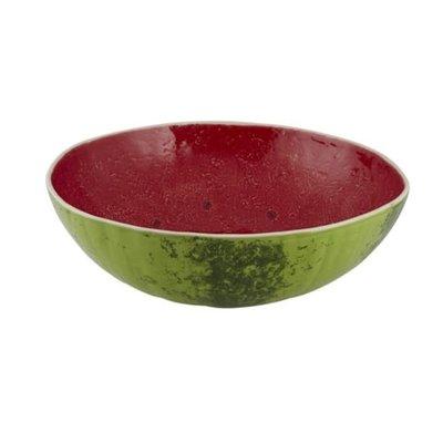 BORDALLO PINHEIRO Watermelon Ceramic Large Salad Serving Bowl - Green & Red