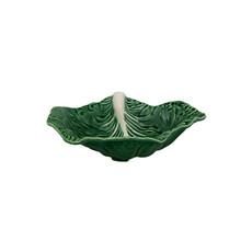 """BORDALLO PINHEIRO Plat à feuilles rondes de Chou vert 14"""" en céramique"""