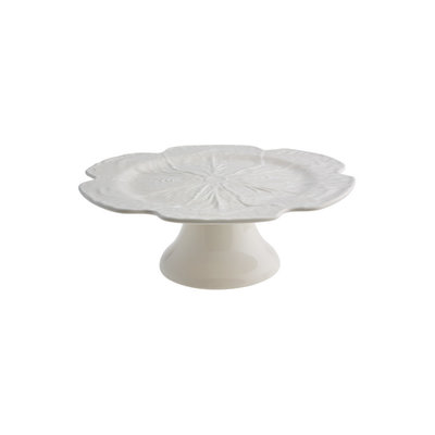 "BORDALLO PINHEIRO 12"" Cabbage Ceramic Cake Stand - Beige"