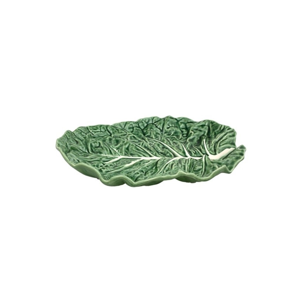 "BORDALLO PINHEIRO Green Cabbage 14"" Fruit Bowl Platter in Ceramic"