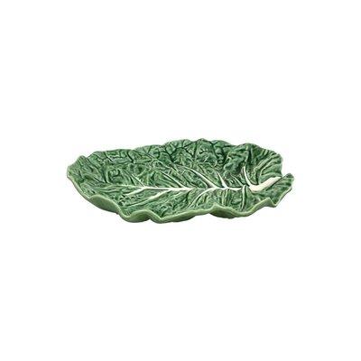 BORDALLO PINHEIRO Plat à fruits en céramique de 14 po en chou - vert