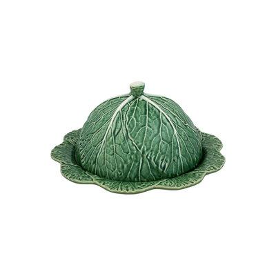 BORDALLO PINHEIRO Plateau à fromage en céramique Chou avec couvercle - Vert