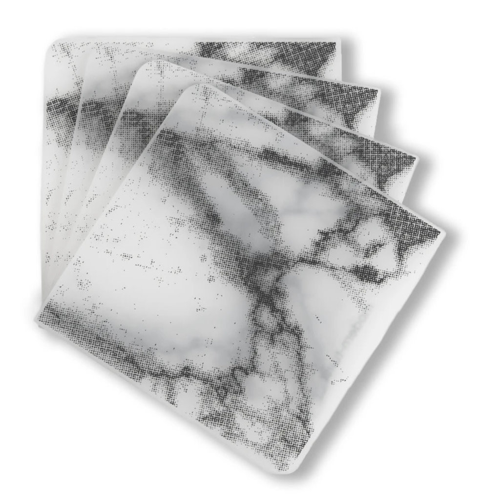 MODERN TWIST Coasters (Set of 4): Marble - Gray