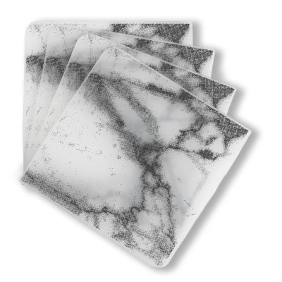 MODERN TWIST Coasters (Set of 4): Marble - Gray