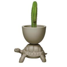 QEEBOO Jardinière tortue et rafraîchisseur à champagne en gris tourterelle