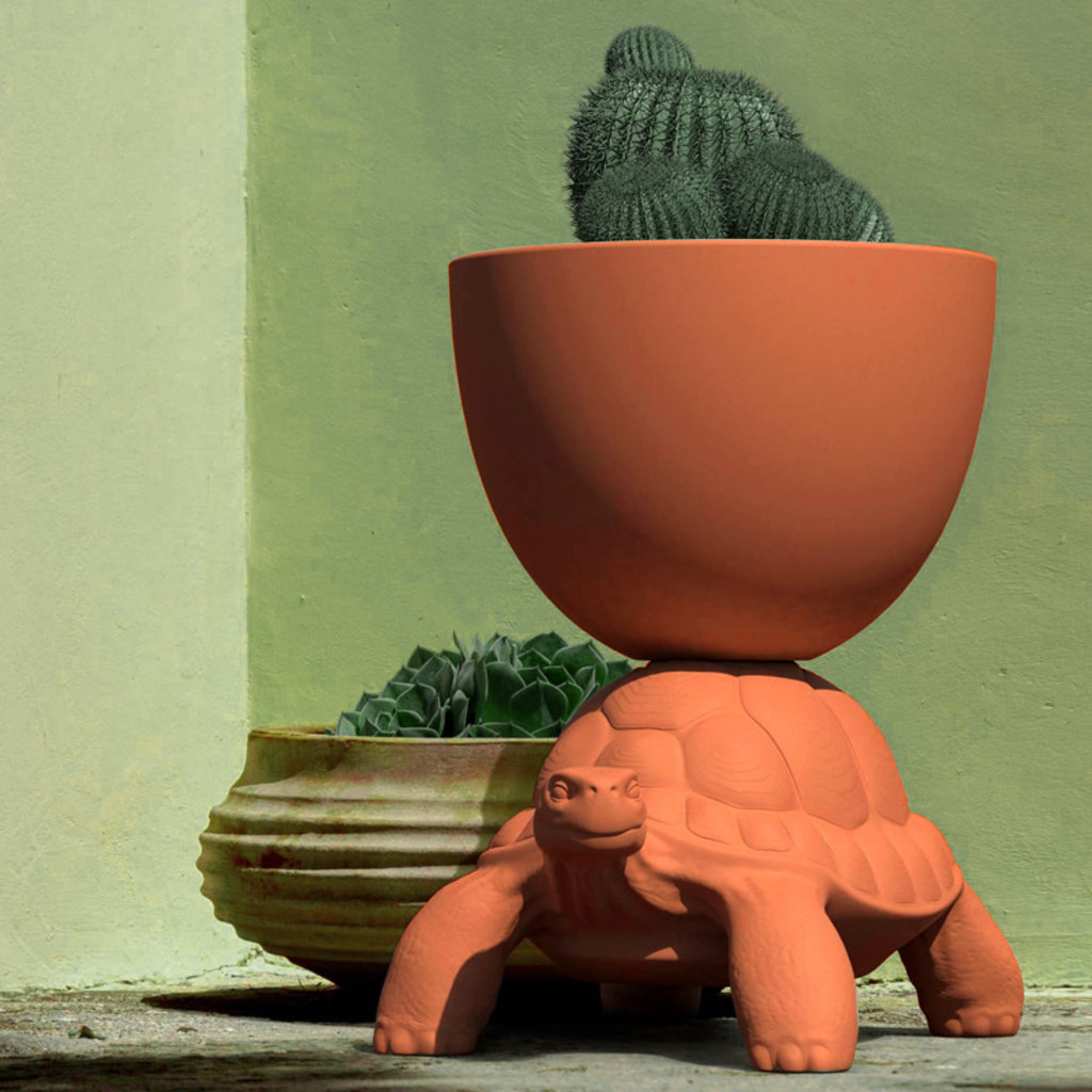 QEEBOO Turtle Planter & Champagne Cooler in Terracotta