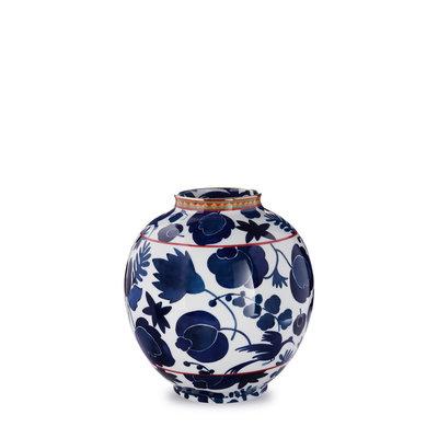 LA DOUBLE J Vase Bulle en Porcelaine Oiseau Sauvage Bleu
