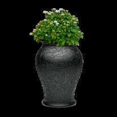 QEEBOO Ming Vase Planter & Champagne Cooler in Black