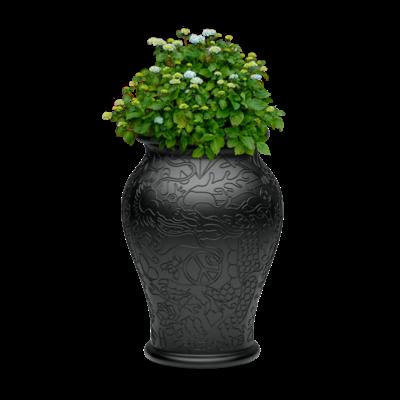 QEEBOO Vase de jardinage et rafraîchisseur à champagne Ming - Noir