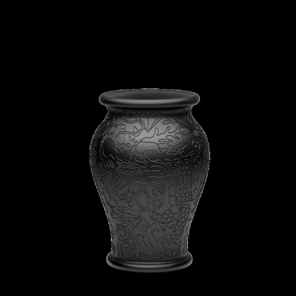 QEEBOO Jardinière et rafraîchisseur à champagne Ming Vase en noir