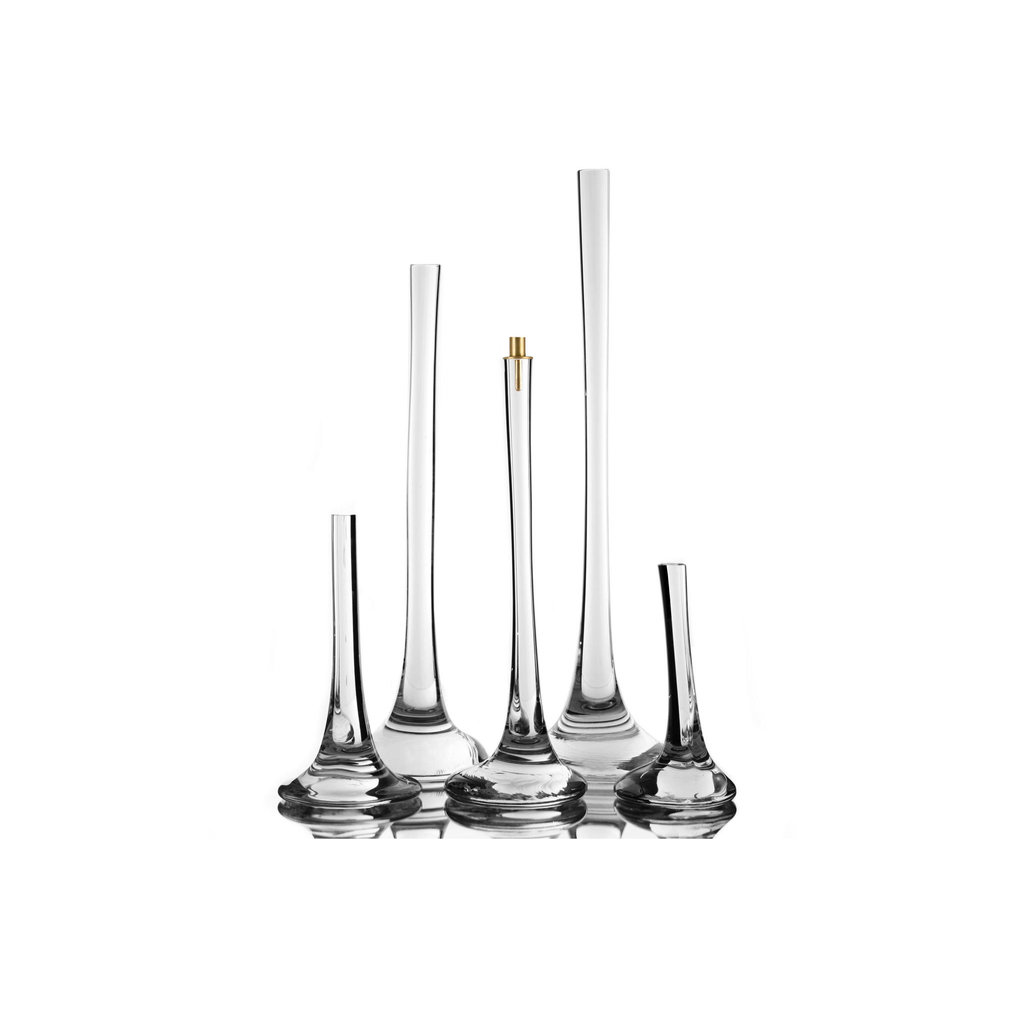 SKLO Puddle Vase & Candlestick (30 x 15cm) in Clear Glass