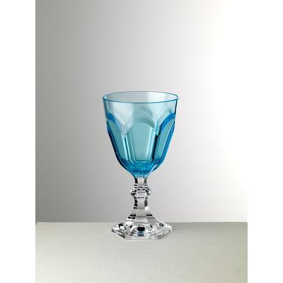 MARIO LUCA GIUSTI Dolce Vita Large Acrylic Goblet set of 6 - Turquoise