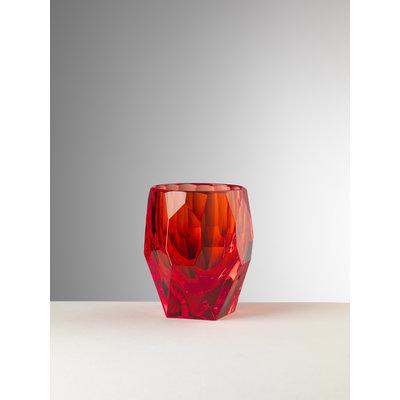 MARIO LUCA GIUSTI Milly Acrylic Tumbler Lot de 6 - Red