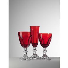 MARIO LUCA GIUSTI  Dolce Vita Grand gobelet rouge en acrylique Lot de 6