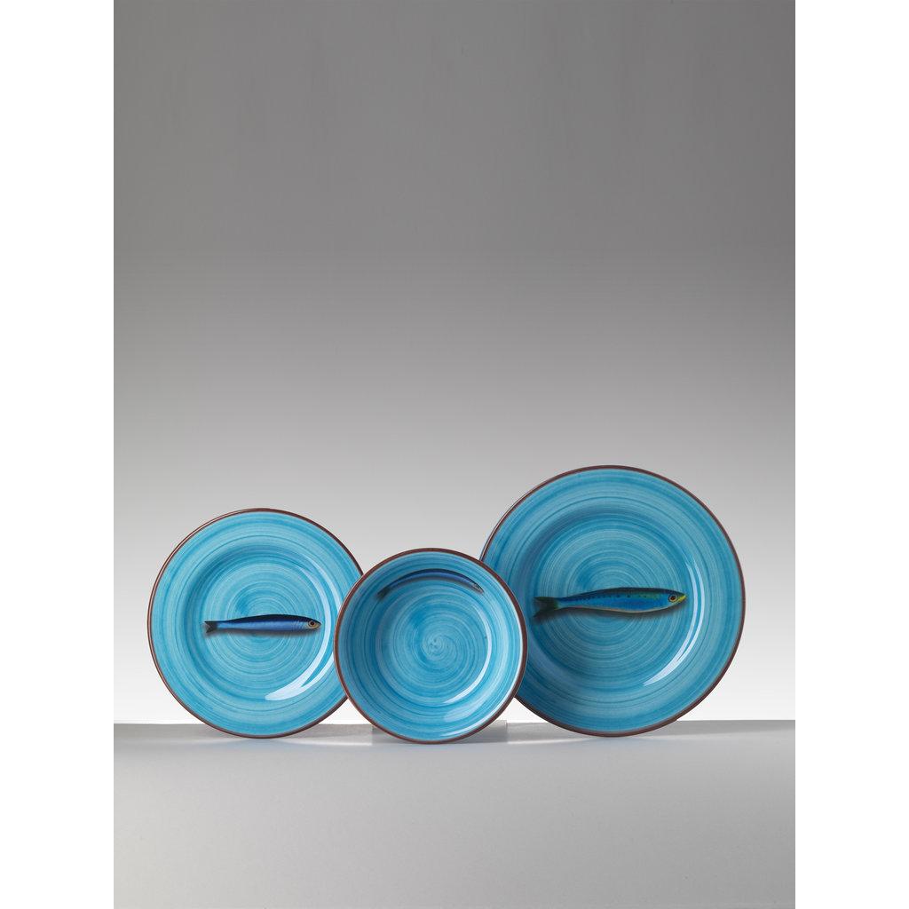 MARIO LUCA GIUSTI  Jeu de 6 bols en mélamine , Turquoise