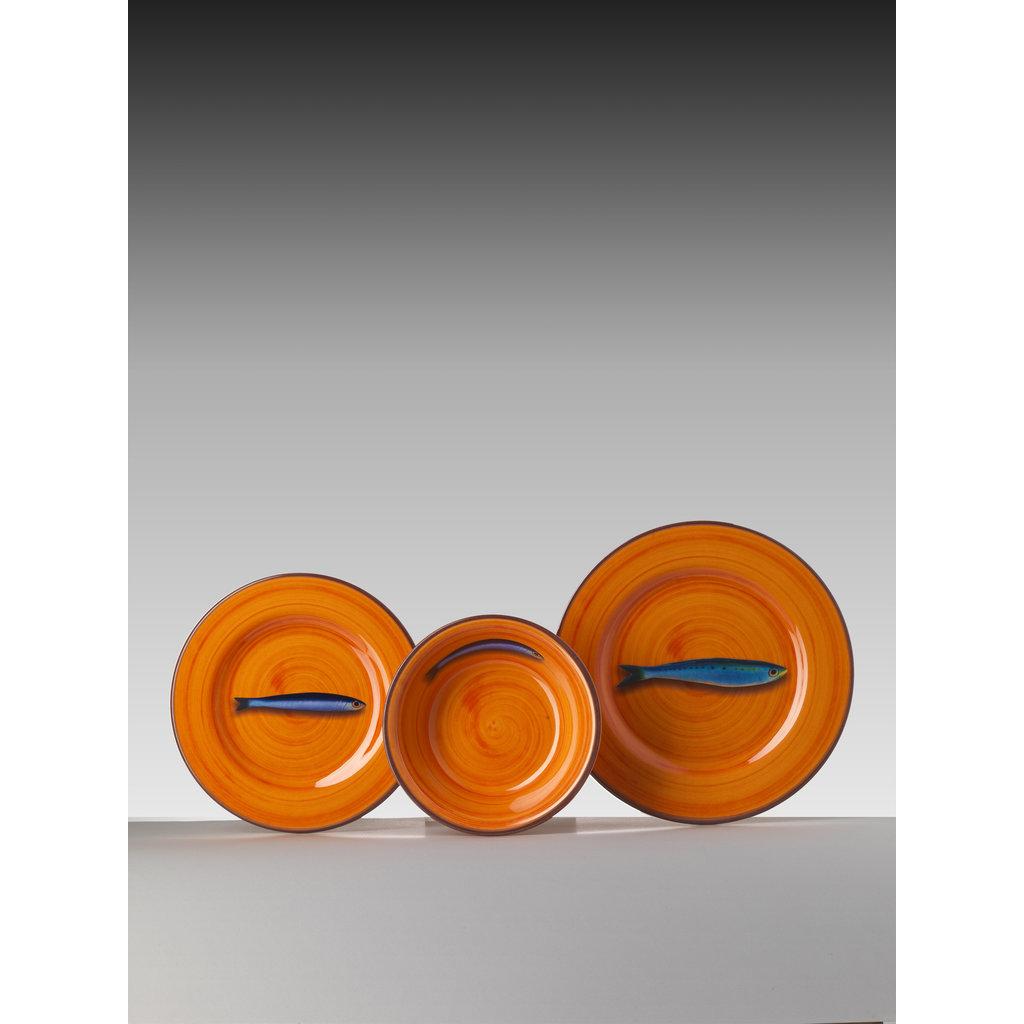 MARIO LUCA GIUSTI  Jeu de 6 bols en mélamine , Orange