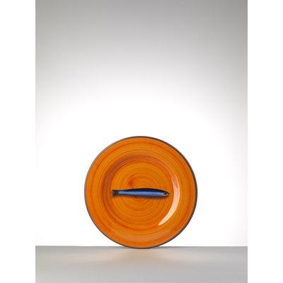 MARIO LUCA GIUSTI Aimone Small Melamine Plate - Orange set of 6