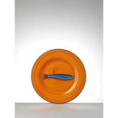 MARIO LUCA GIUSTI Aimone Medium assiette en mélamine lot de 6 - Orange