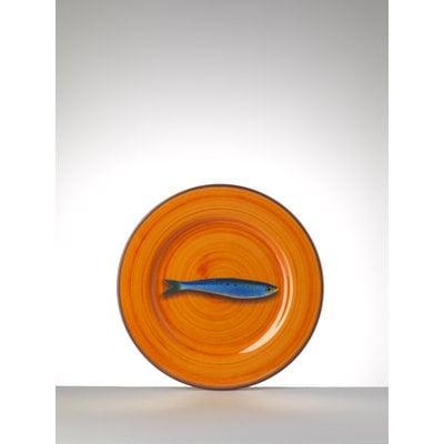 MARIO LUCA GIUSTI Melamine Aimone Orange Medium Plate Set of 6