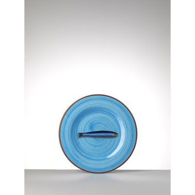 MARIO LUCA GIUSTI Aimone Small Melamine Plate - Turquoise set of 6