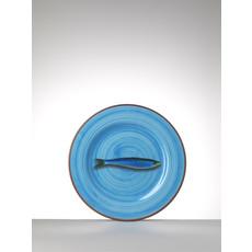 MARIO LUCA GIUSTI  Assiette moyenne turquoise Aimone en mélamine Lot de 6