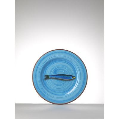 MARIO LUCA GIUSTI Aimone Medium Melamine Plate - Turquoise set of 6