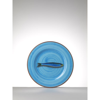MARIO LUCA GIUSTI Assiette en mélamine moyenne Aimone lot de 6- Turquoise