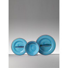 MARIO LUCA GIUSTI Aimone Medium Turquoise Plate in Melamine set of 6
